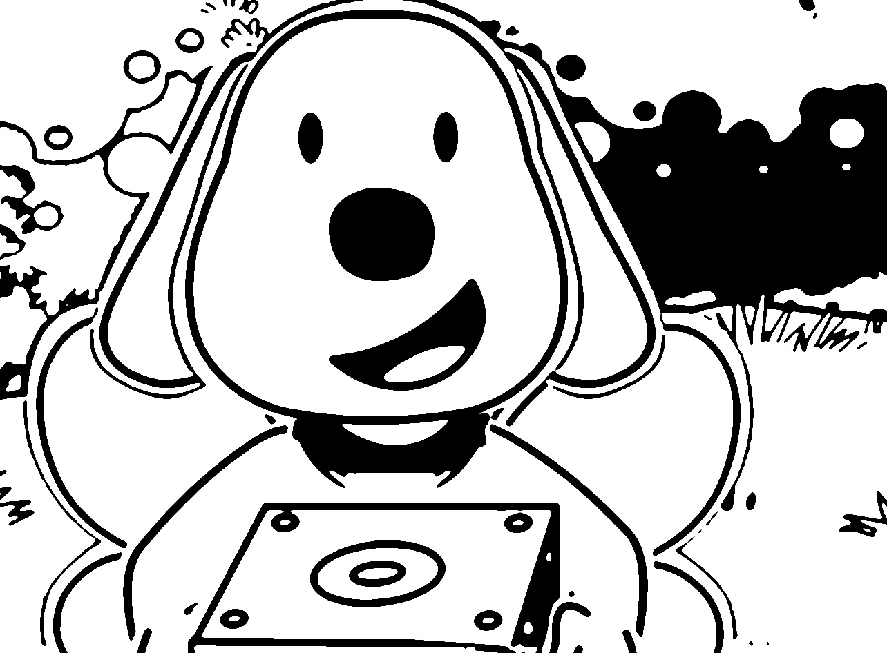 Speaking Cartoon Kids Coloring Page 11