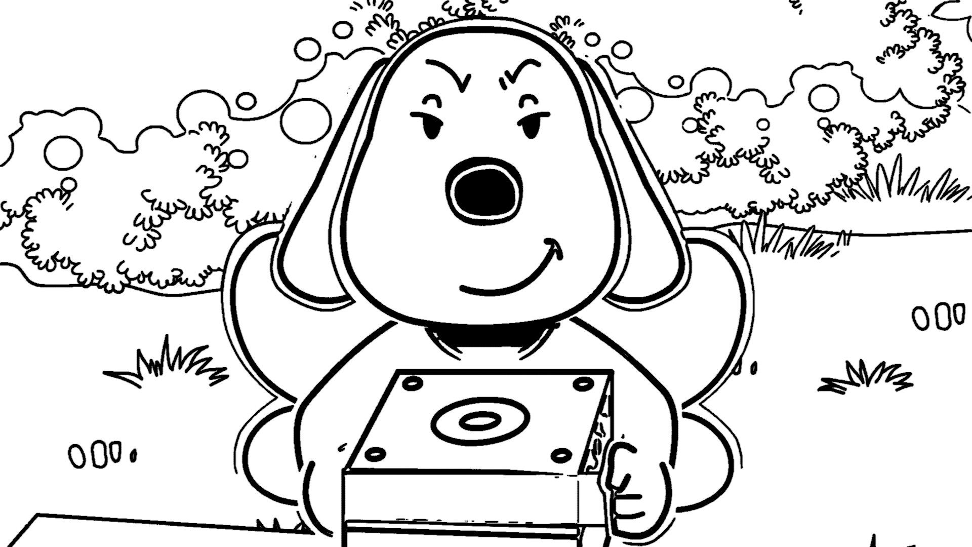 Speaking Cartoon Kids Coloring Page 12