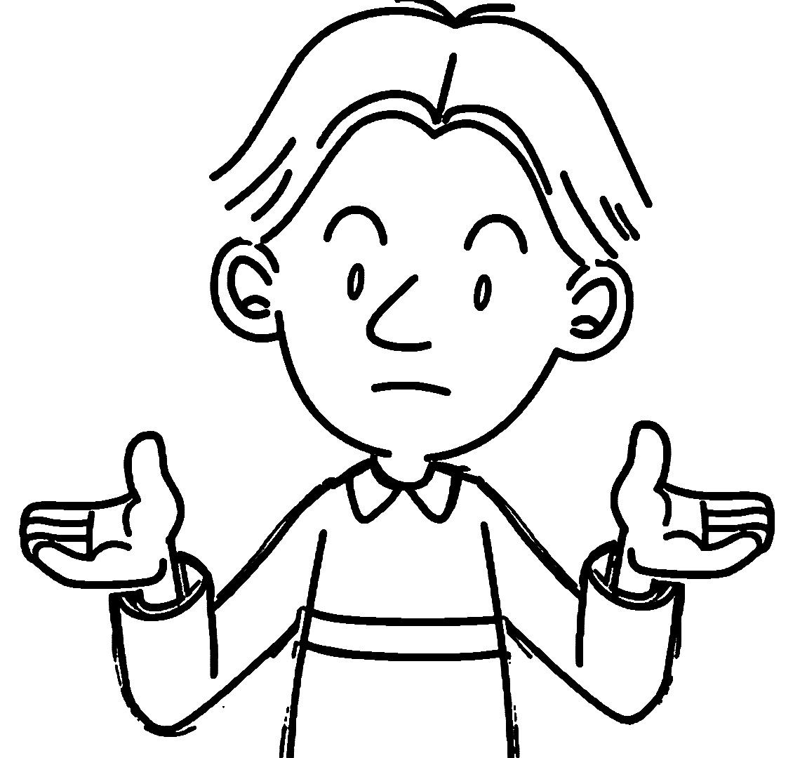 Speaking Cartoon Kids Coloring Page 13