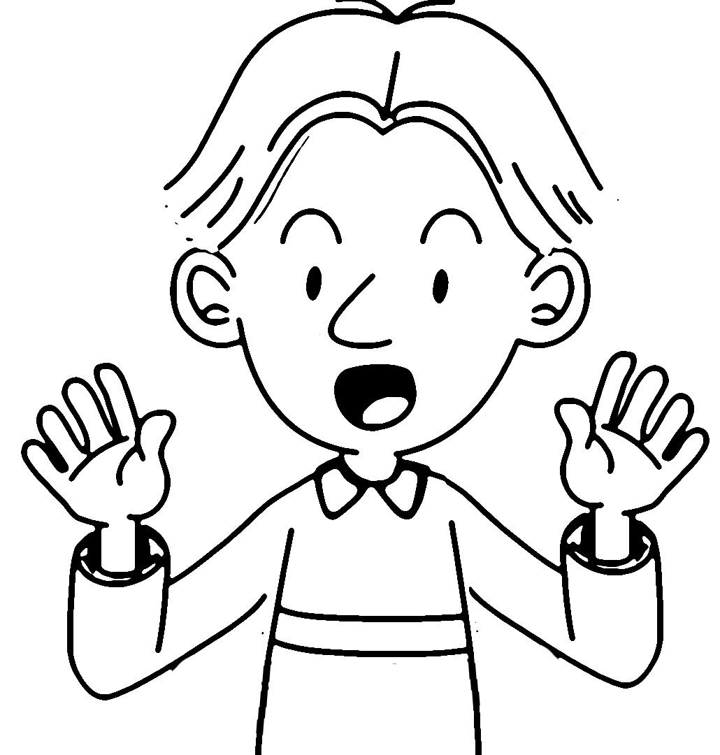 Speaking Cartoon Kids Coloring Page 14