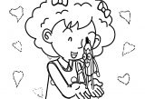 Speaking Cartoon Kids Coloring Page 15