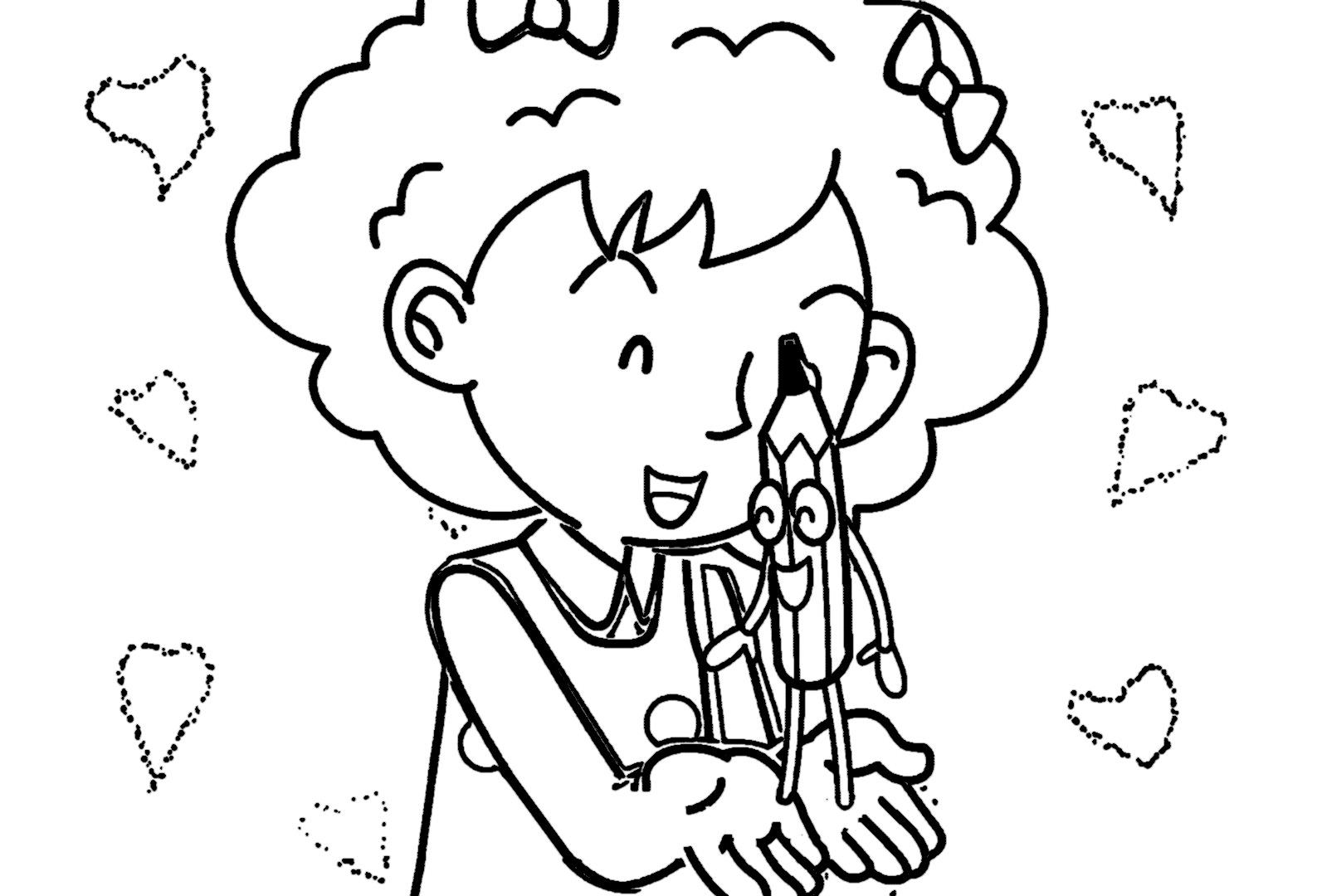 Speaking Cartoon Kids Coloring Page 15