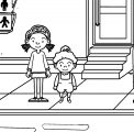 Speaking Cartoon Kids Coloring Page 20