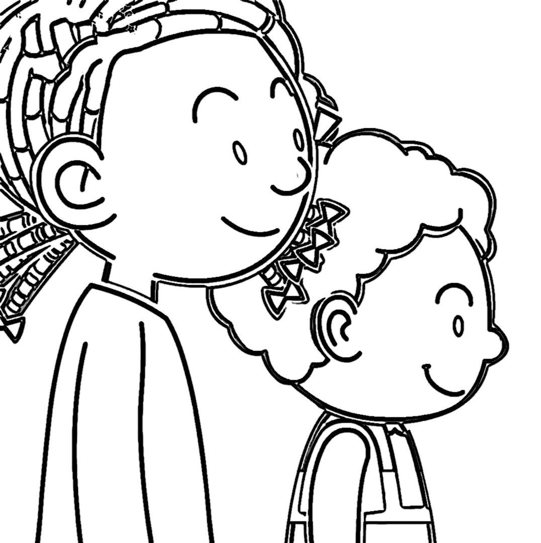 Speaking Cartoon Kids Coloring Page 21