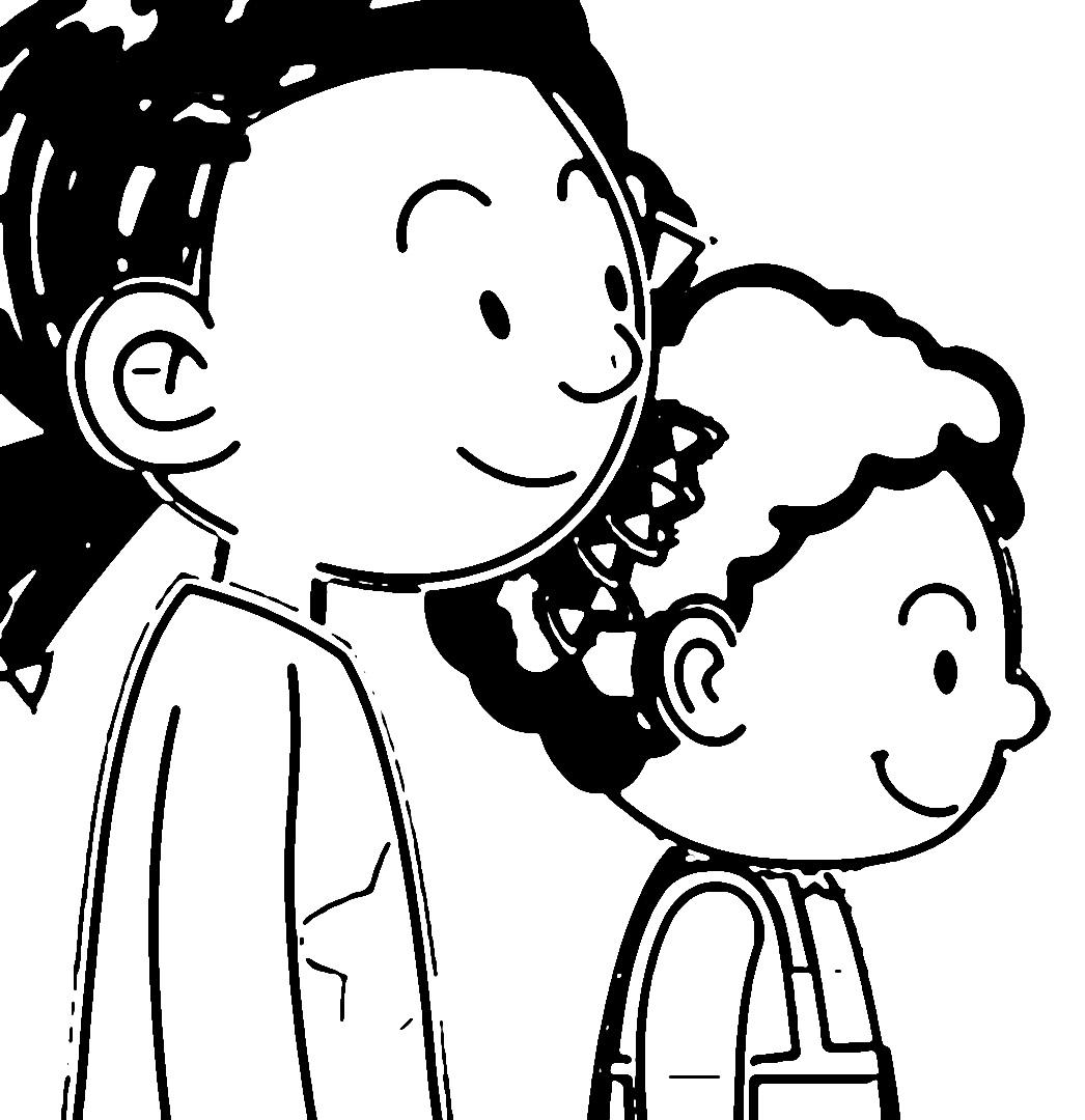 Speaking Cartoon Kids Coloring Page 22
