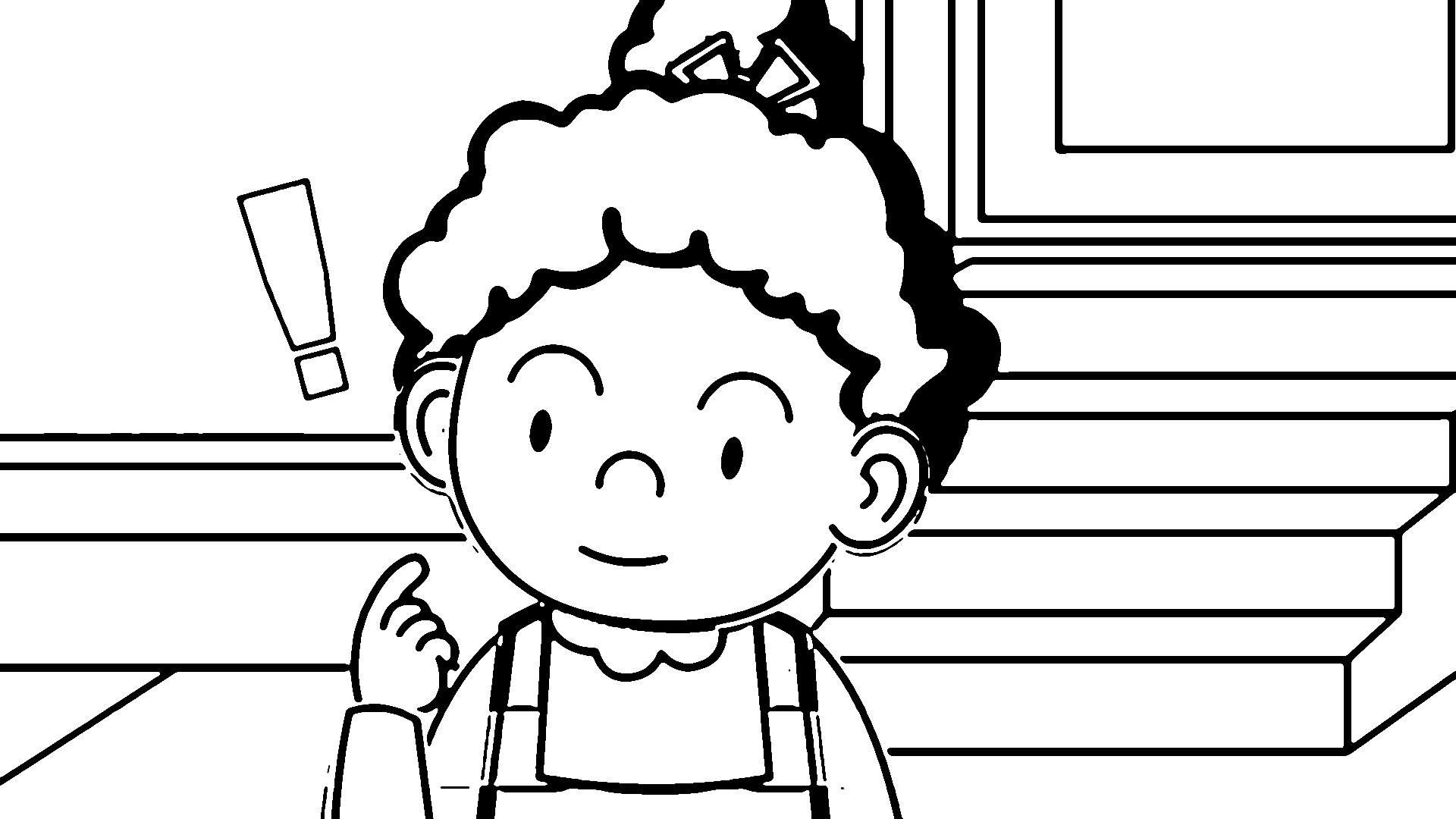 Speaking Cartoon Kids Coloring Page 24