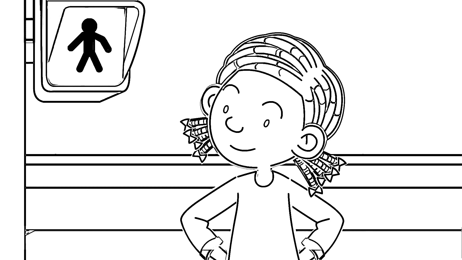 Speaking Cartoon Kids Coloring Page 27