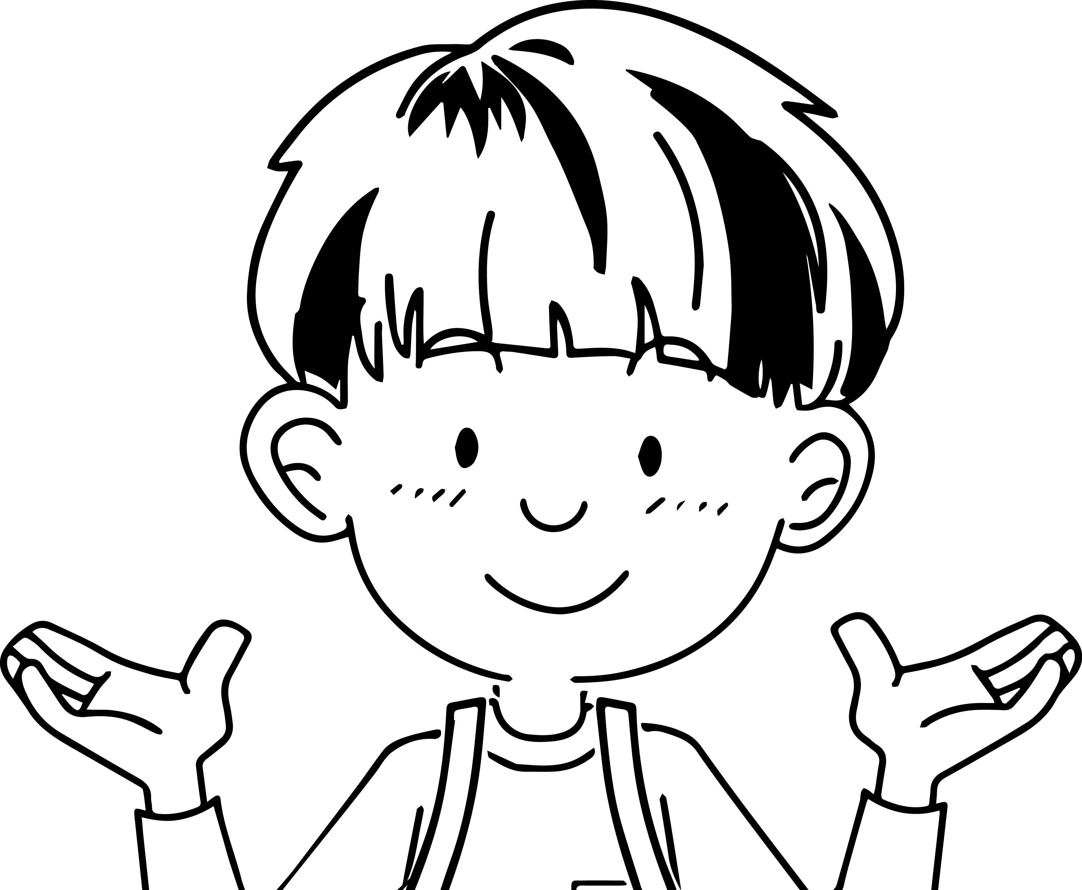 Speaking Cartoon Kids Coloring Page 29