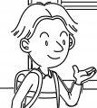 Speaking Cartoon Kids Coloring Page 30