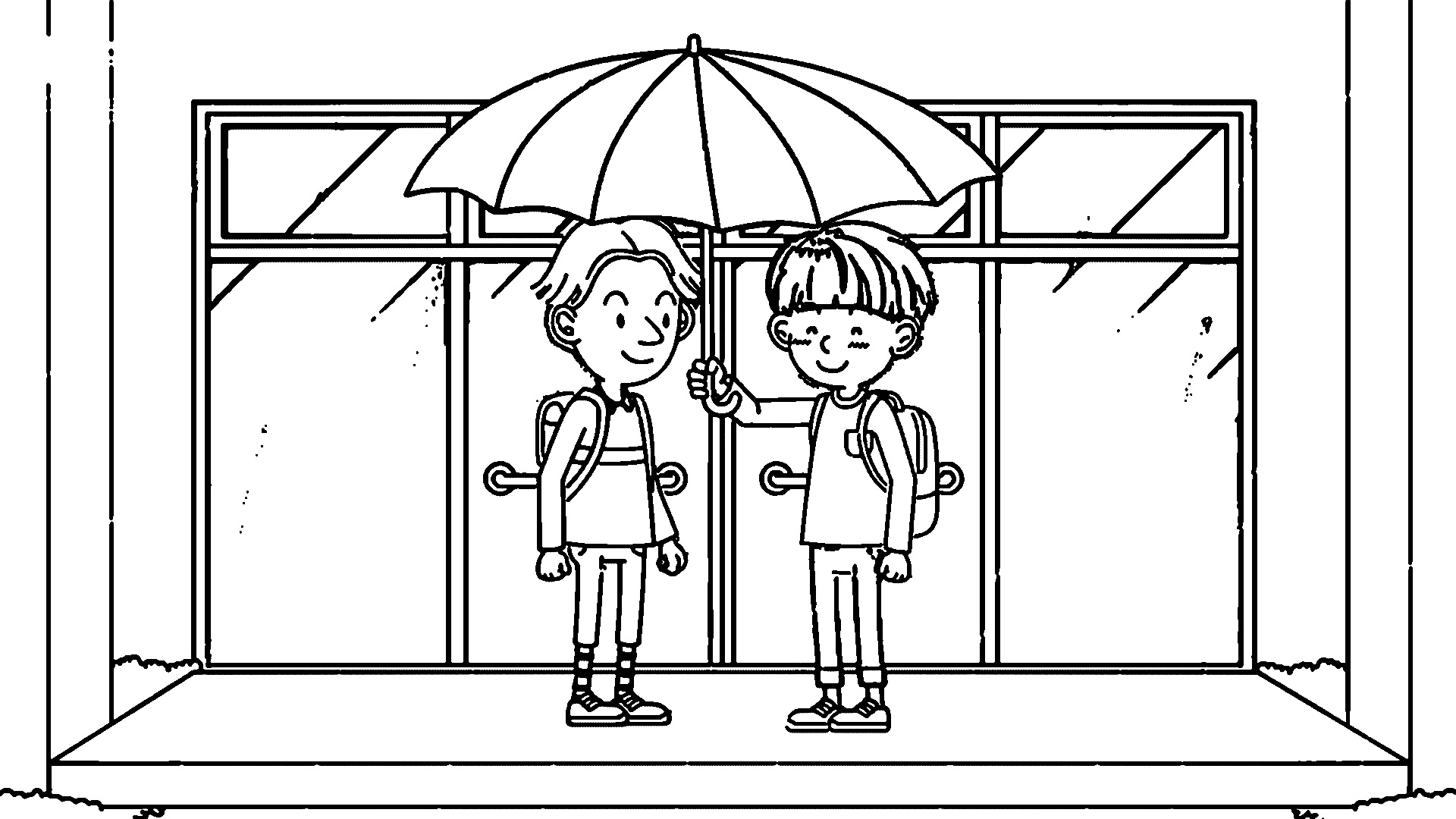 Speaking Cartoon Kids Coloring Page 32