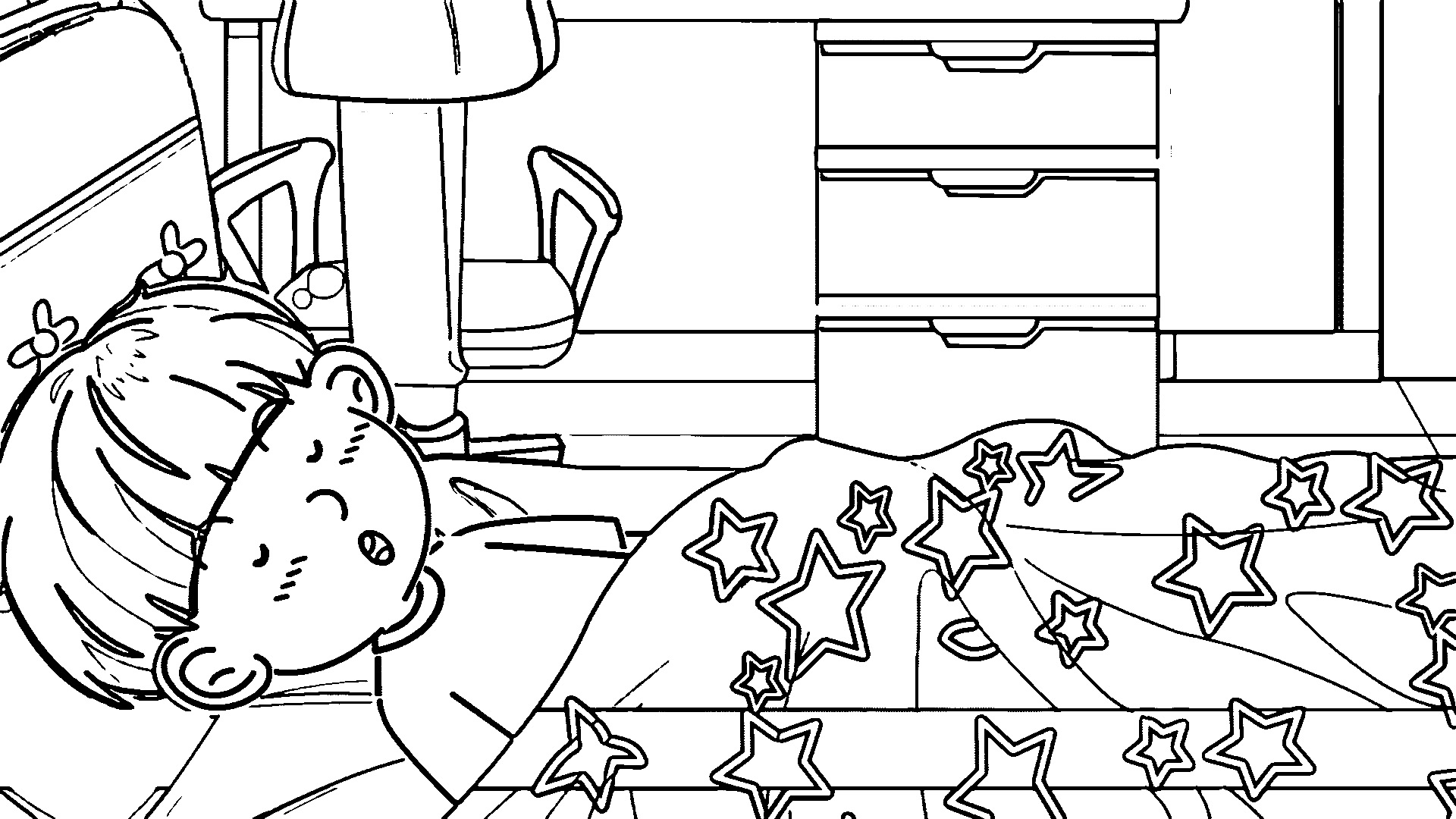 Speaking Cartoon Kids Coloring Page 33