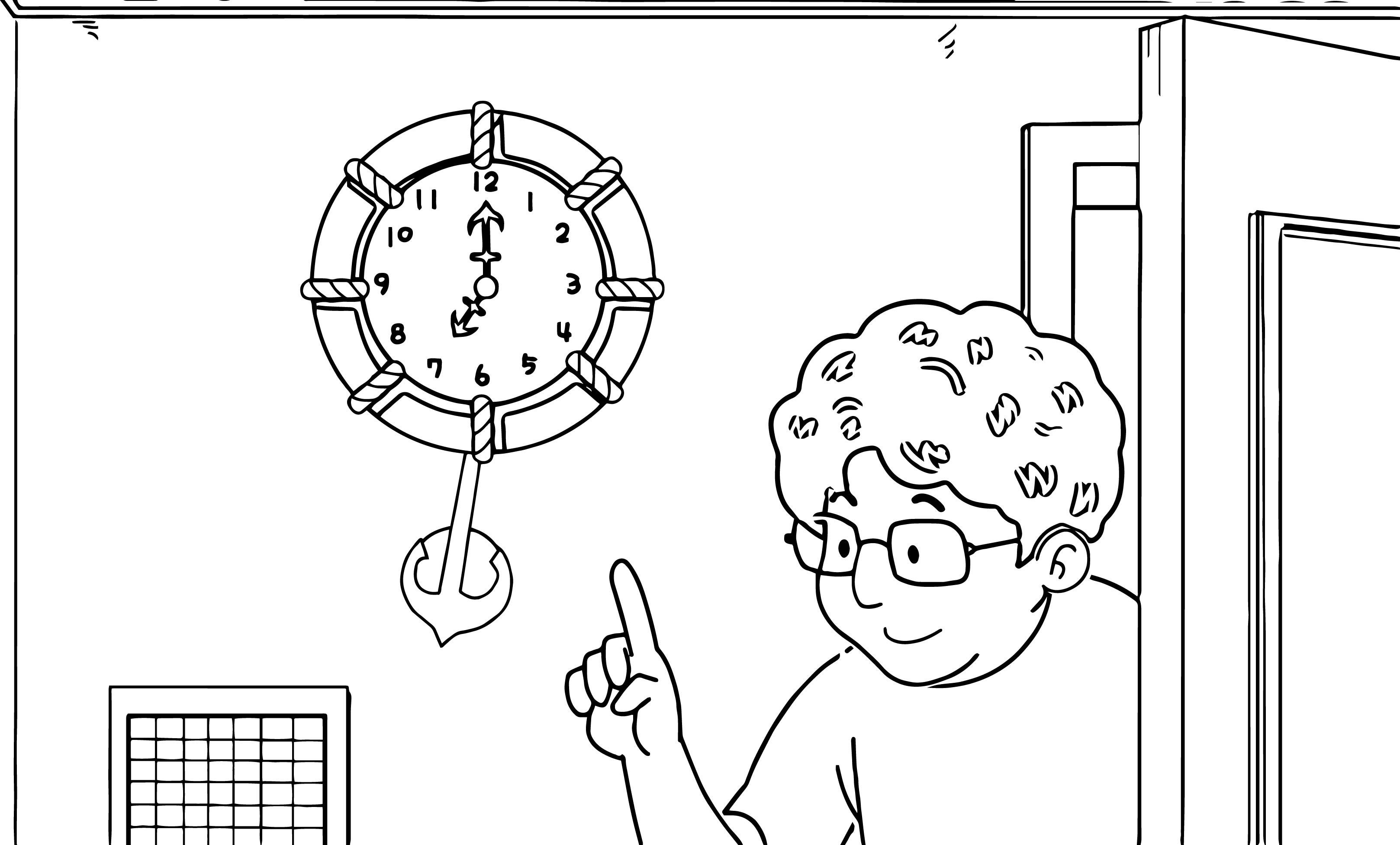 Speaking Cartoon Kids Coloring Page 36