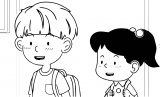 Speaking Cartoon Kids Coloring Page 40
