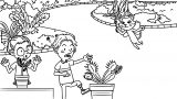 Speaking Cartoon Kids Coloring Page 41