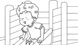 Speaking Cartoon Kids Coloring Page 43