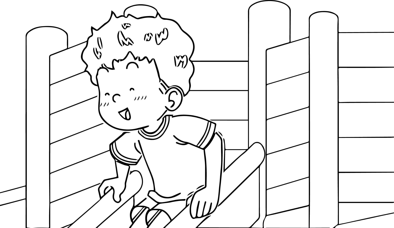 Speaking Cartoon Kids Coloring Page 43