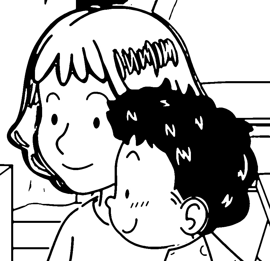 Speaking Cartoon Kids Coloring Page 46