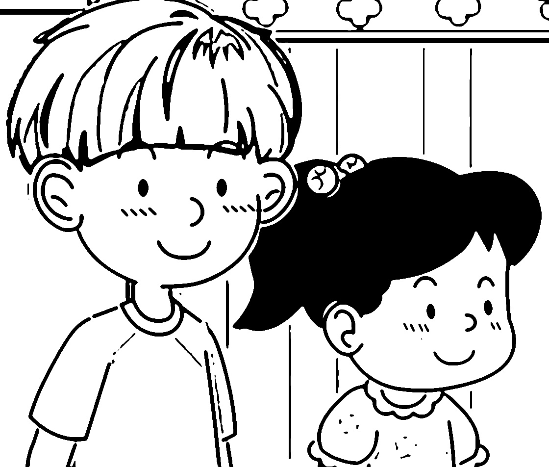Speaking Cartoon Kids Coloring Page 47