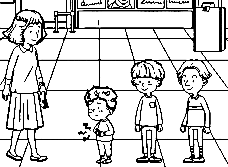 Speaking Cartoon Kids Coloring Page 48