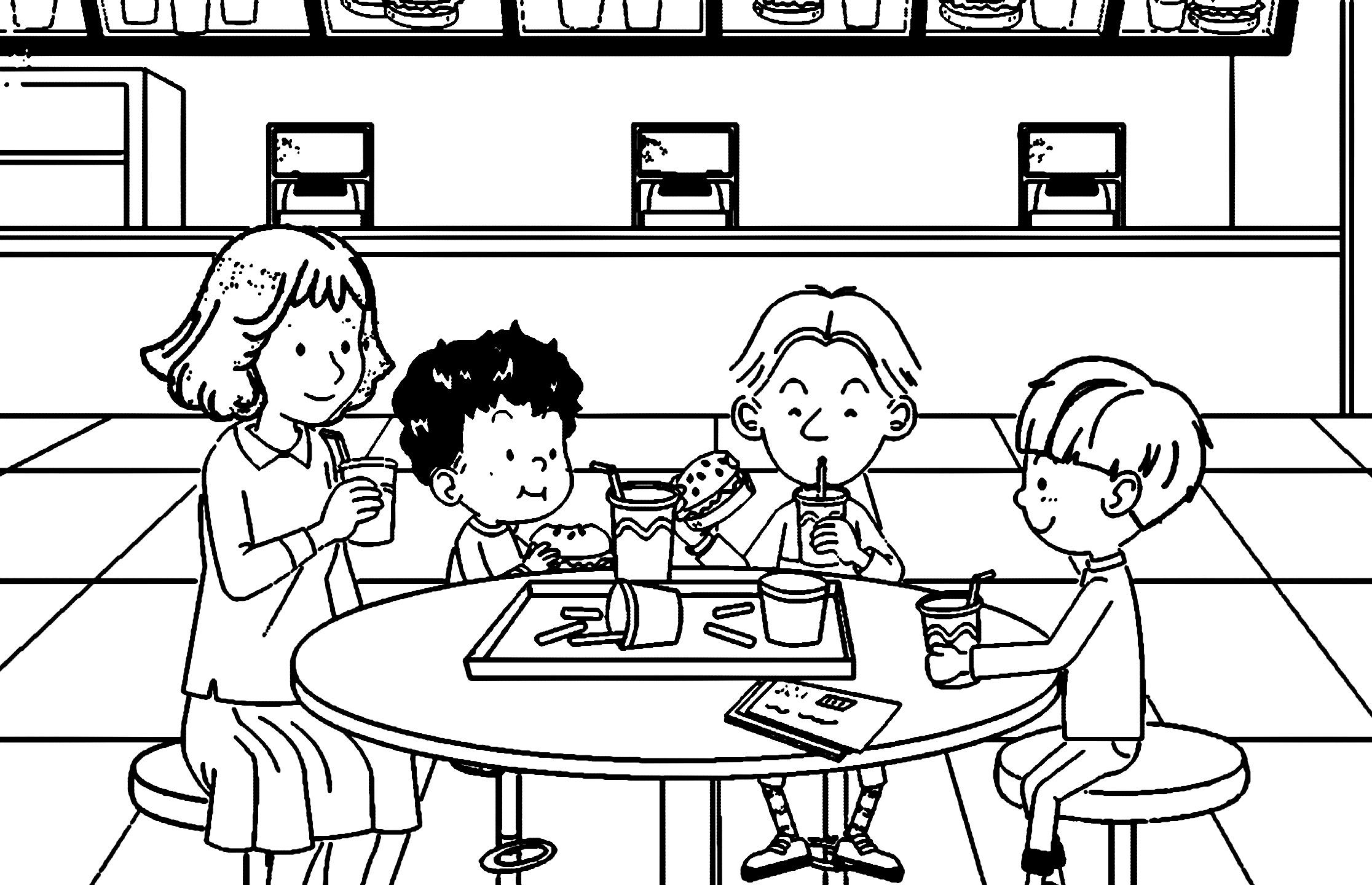Speaking Cartoon Kids Coloring Page 50