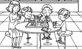 Speaking Cartoon Kids Coloring Page 51