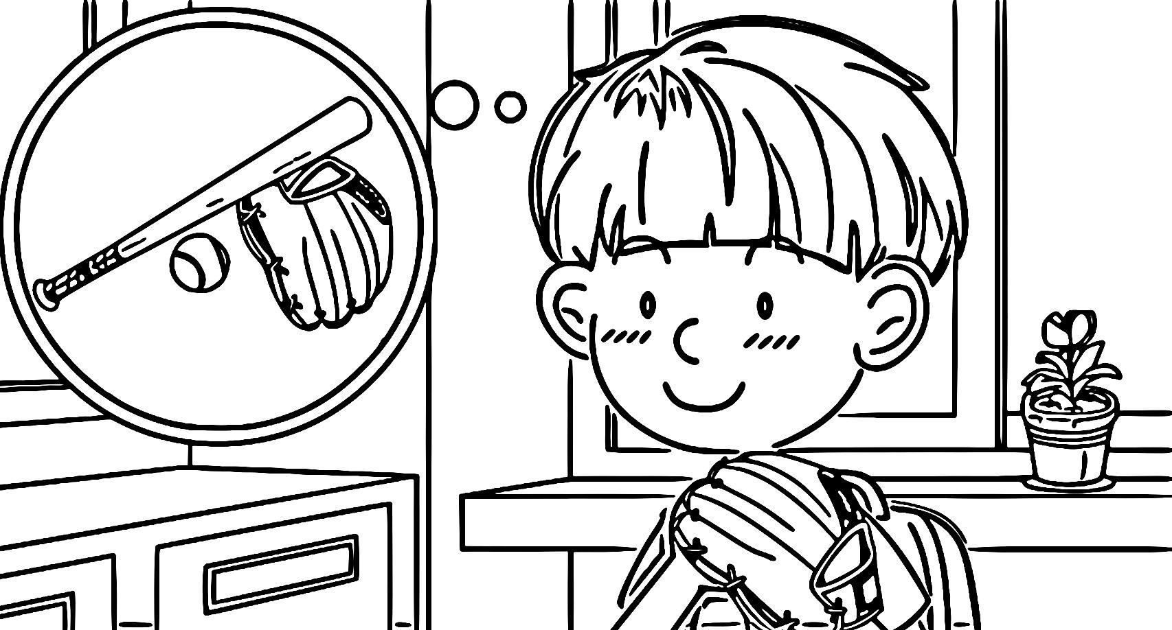 Speaking Cartoon Kids Coloring Page 53