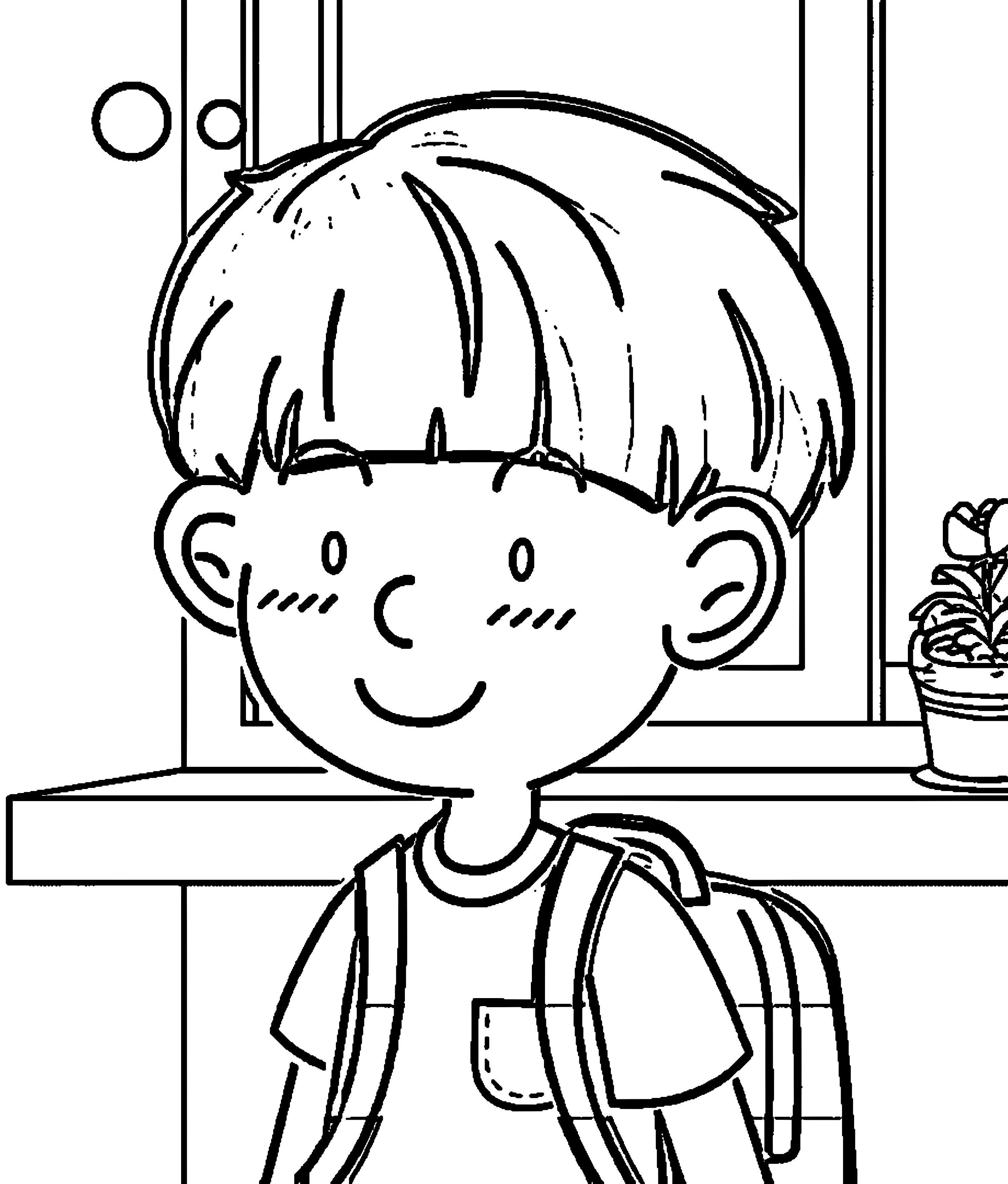Speaking Cartoon Kids Coloring Page 54