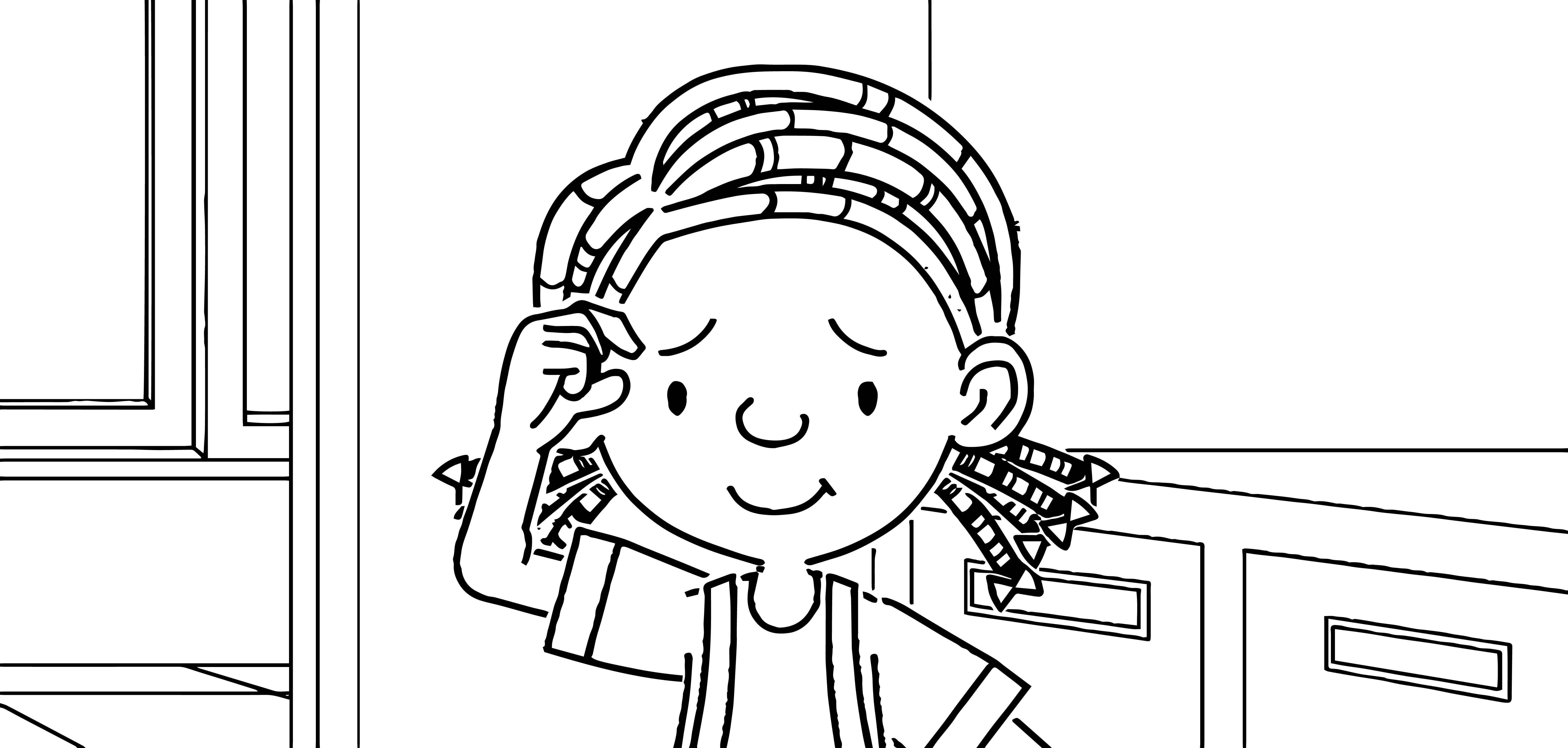 Speaking Cartoon Kids Coloring Page 55