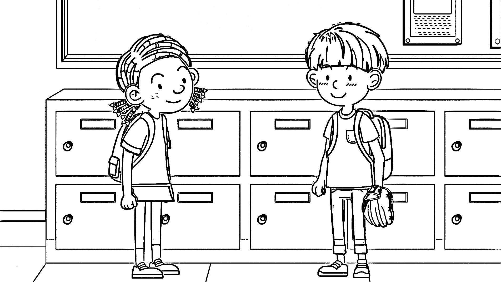 Speaking Cartoon Kids Coloring Page 56