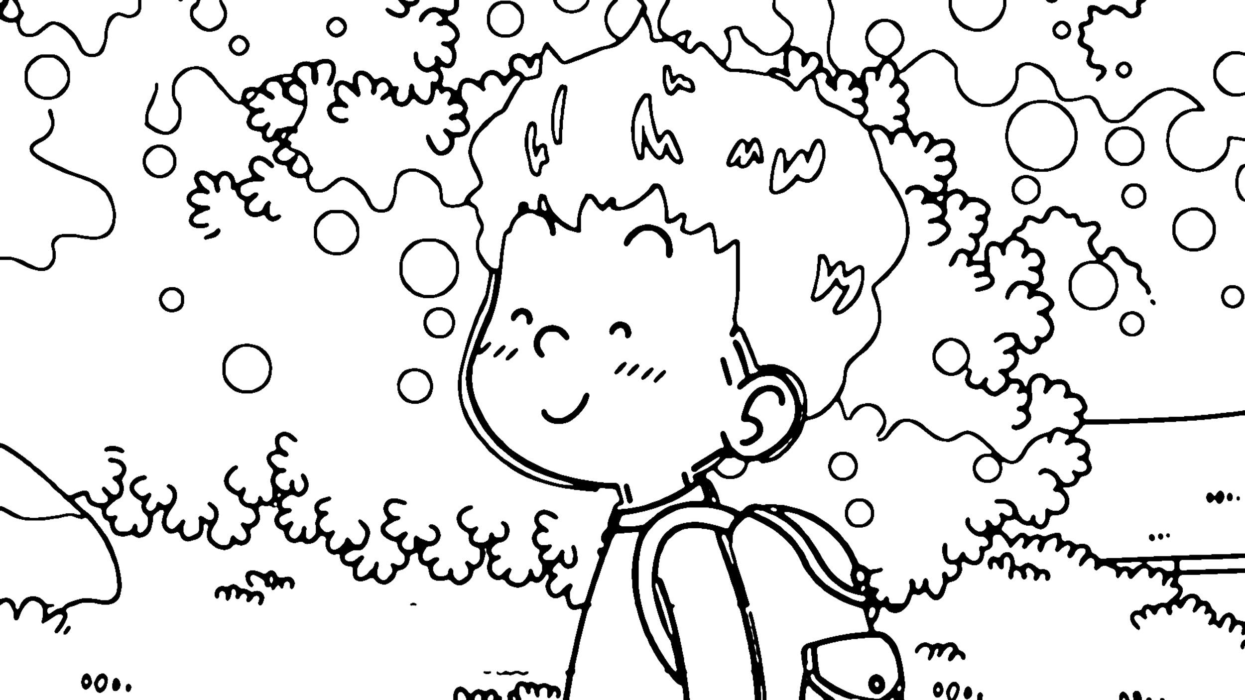 Speaking Cartoon Kids Coloring Page 58