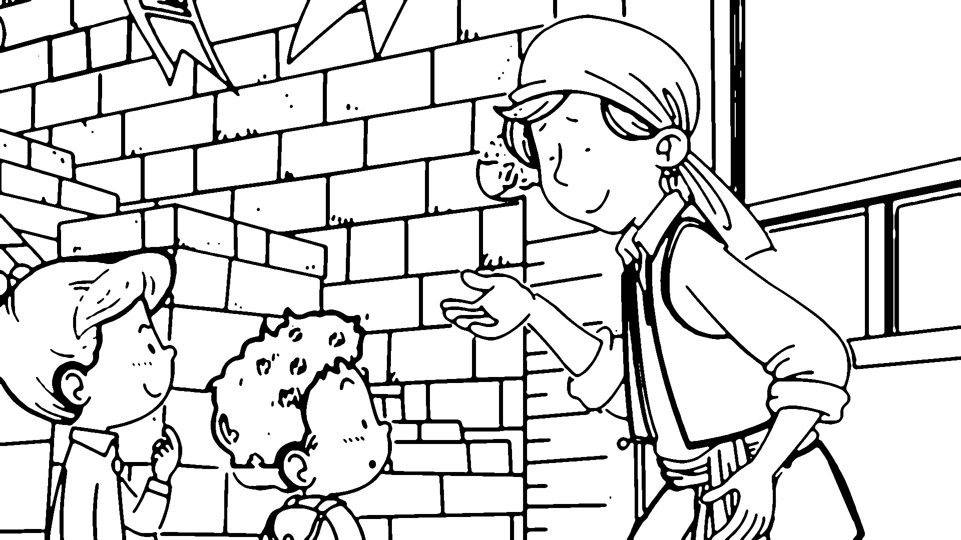 Speaking Cartoon Kids Coloring Page 59