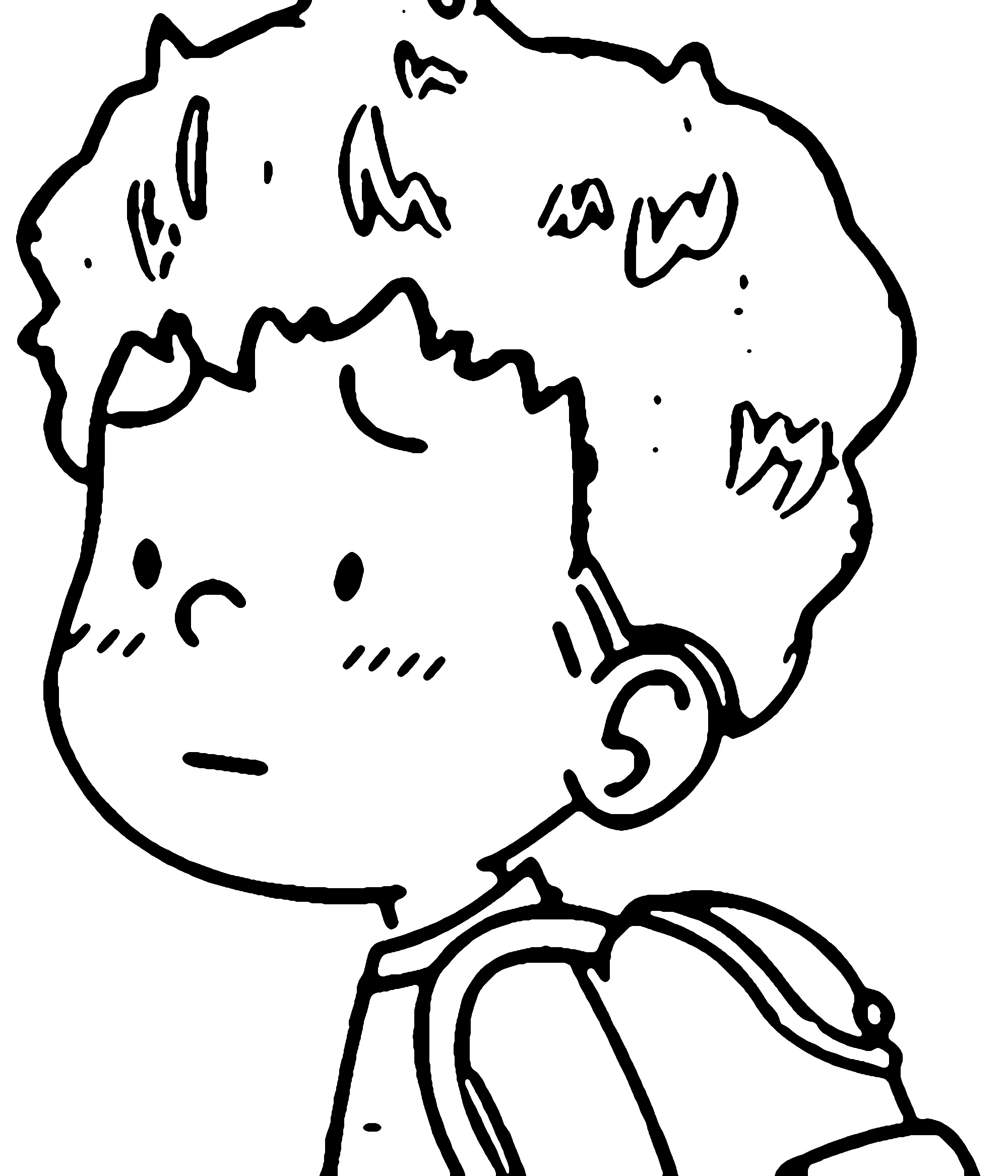 Speaking Cartoon Kids Coloring Page 60