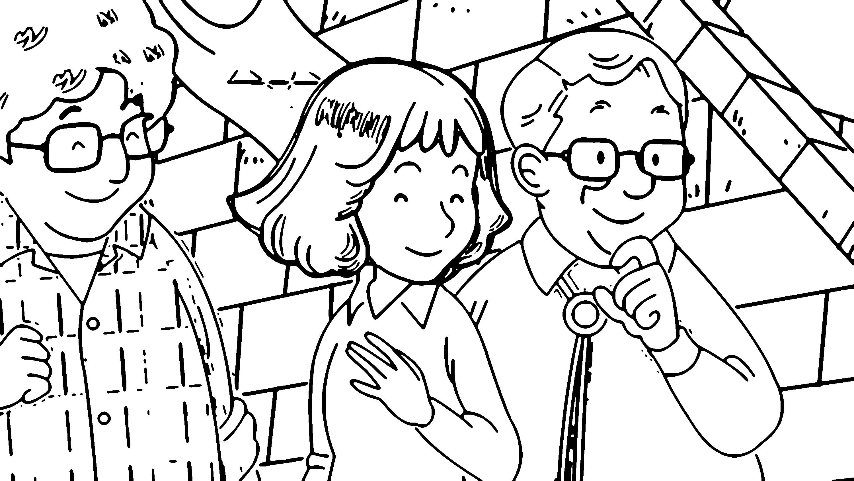 Speaking Cartoon Kids Coloring Page 61