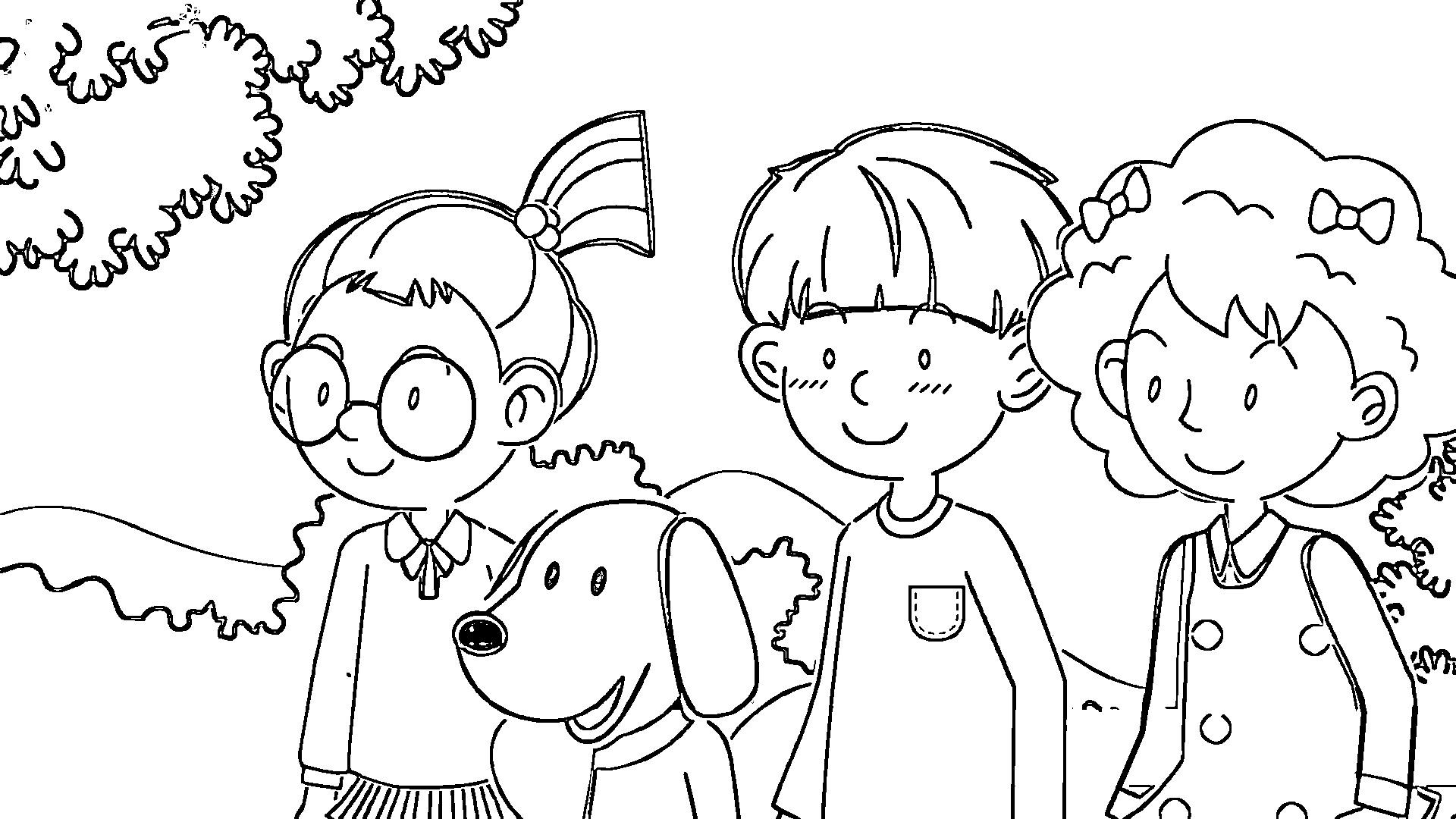Speaking Cartoon Kids Coloring Page 62