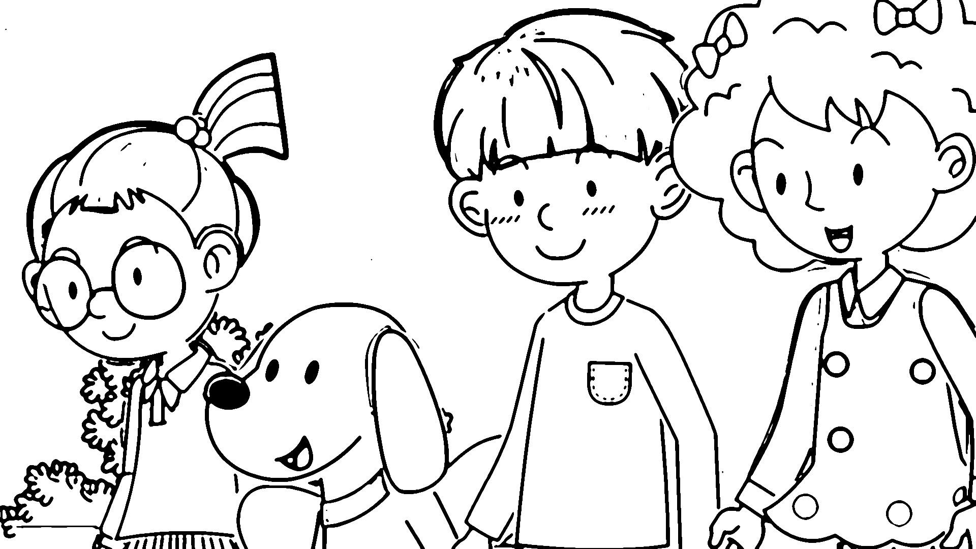 Speaking Cartoon Kids Coloring Page 63