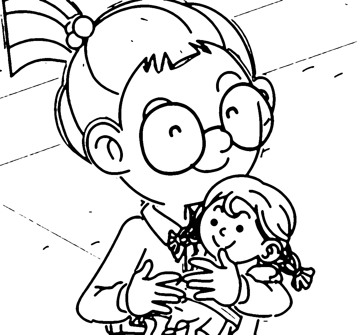 Speaking Cartoon Kids Coloring Page 65