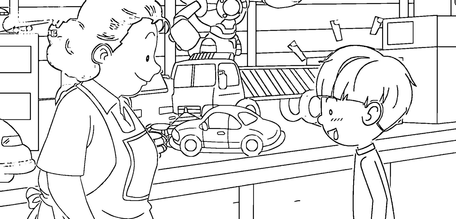 Speaking Cartoon Kids Coloring Page 66