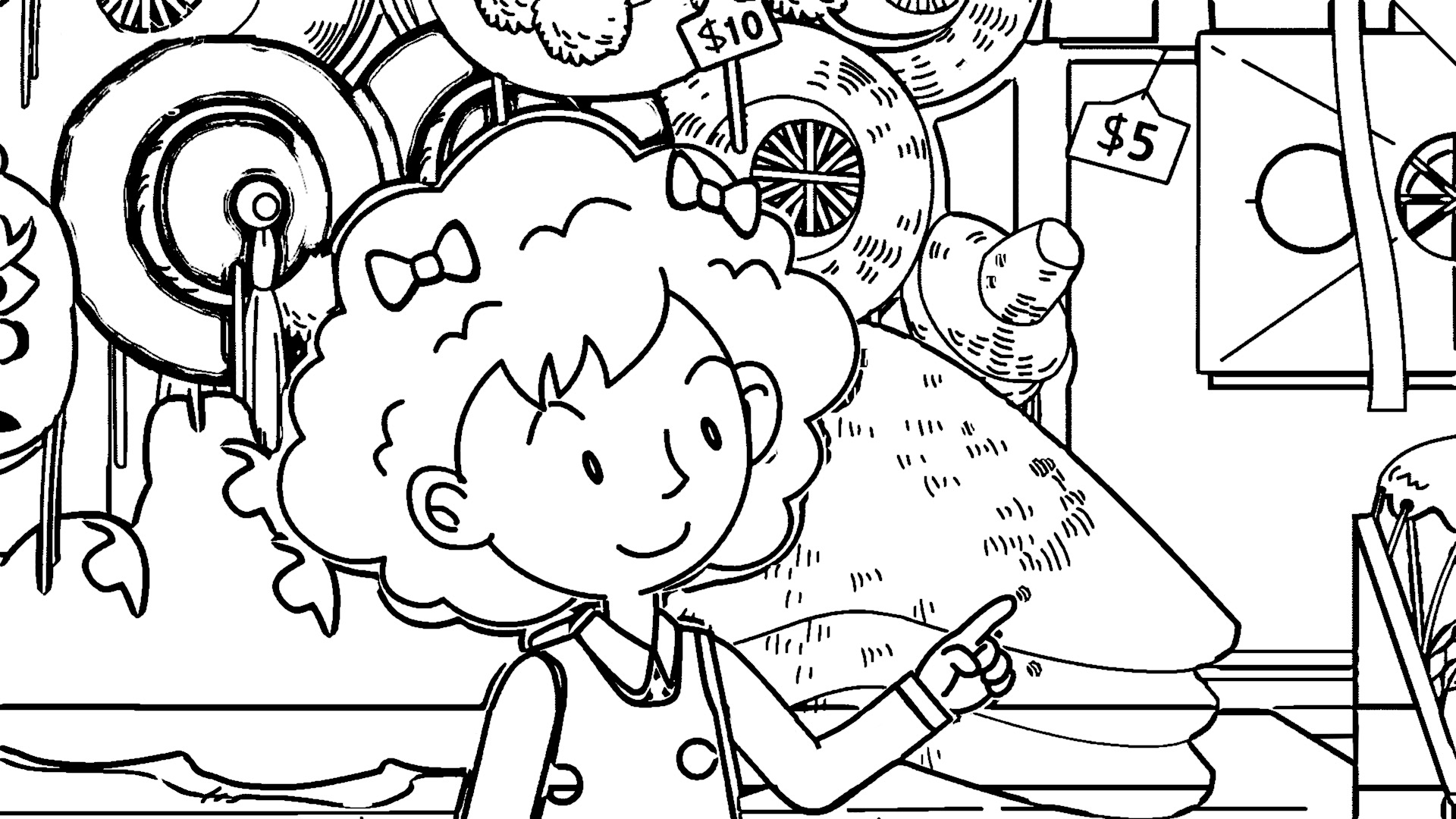 Speaking Cartoon Kids Coloring Page 67