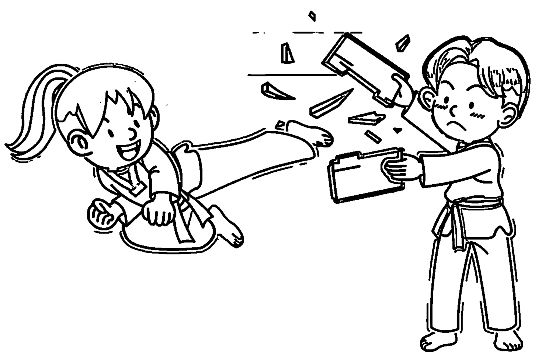 Speaking Cartoon Kids Coloring Page 70