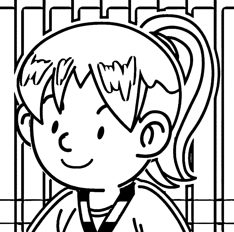 Speaking Cartoon Kids Coloring Page 71