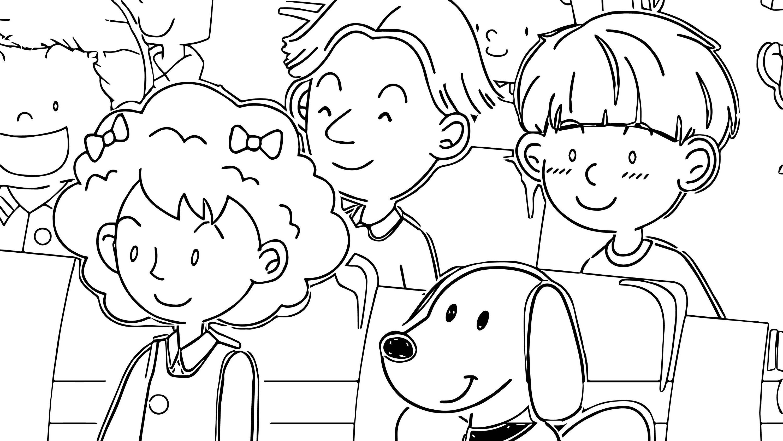 Speaking Cartoon Kids Coloring Page 72
