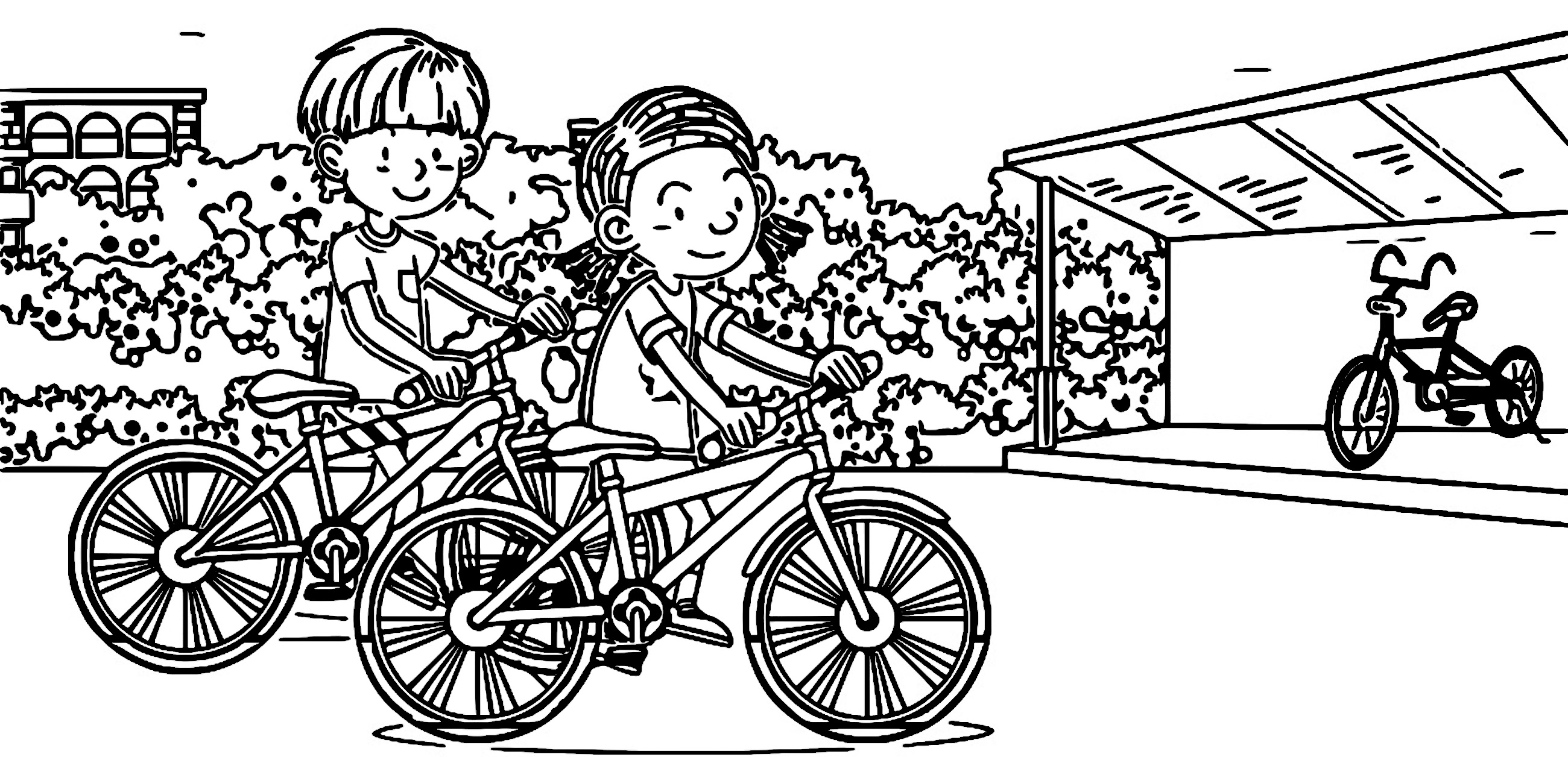 Speaking Cartoon Kids Coloring Page 73