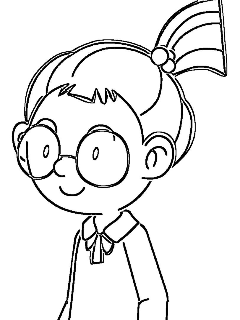 Speaking Cartoon Kids Coloring Page 76