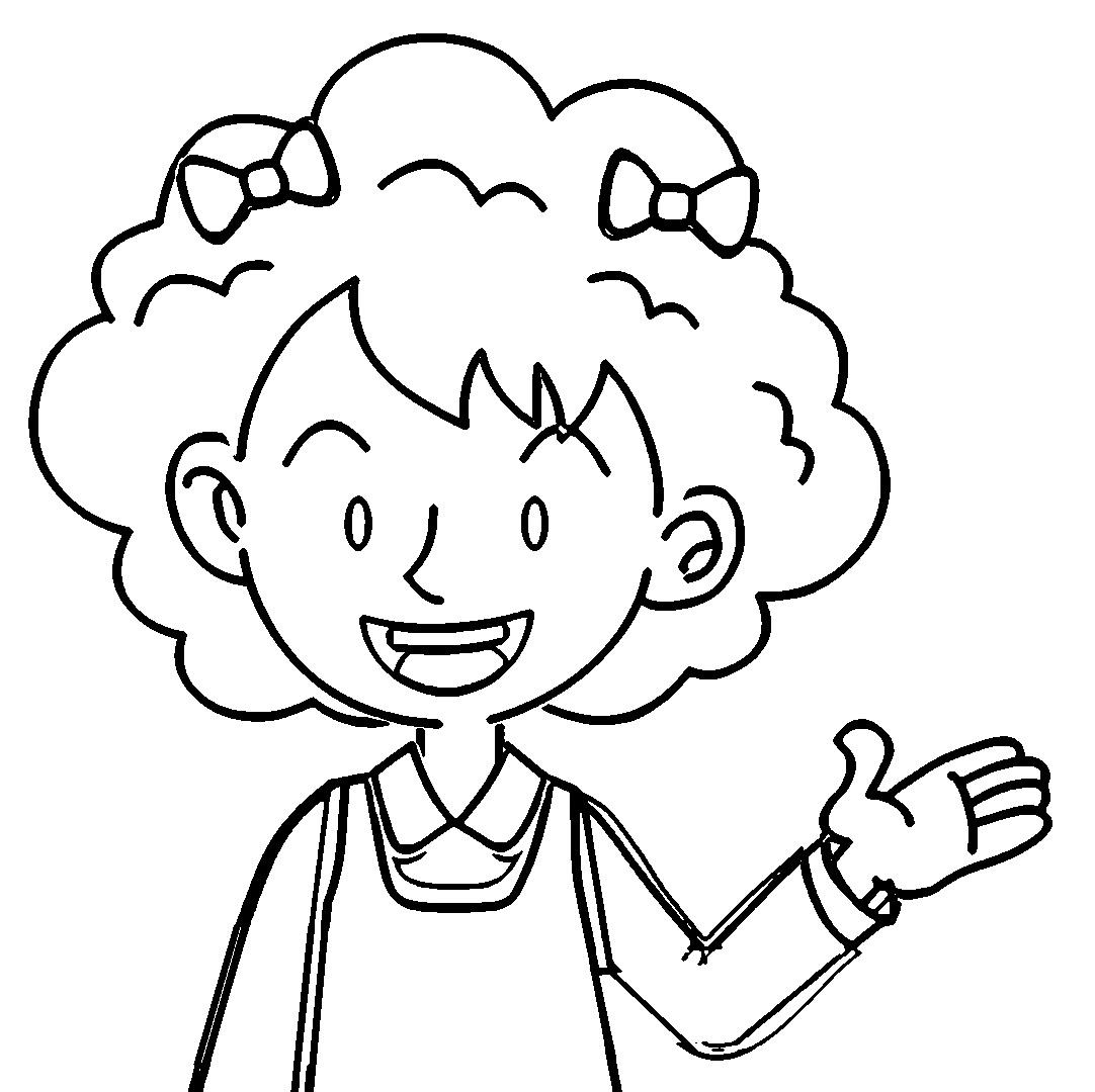 Speaking Cartoon Kids Coloring Page 78