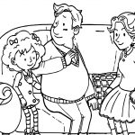 Speaking Cartoon Kids Coloring Page 80