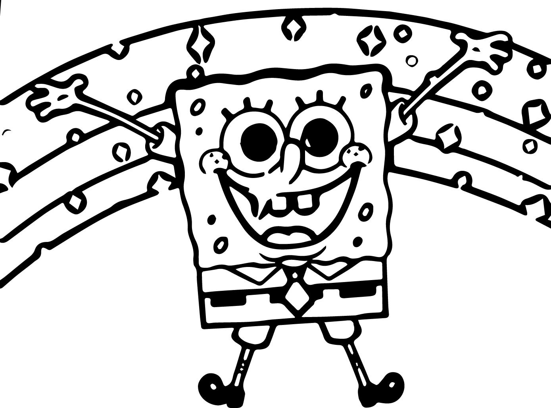 Sponge Sunger Bob Coloring Page