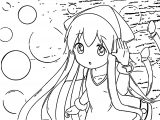 Squid Girl Coloring Page 098