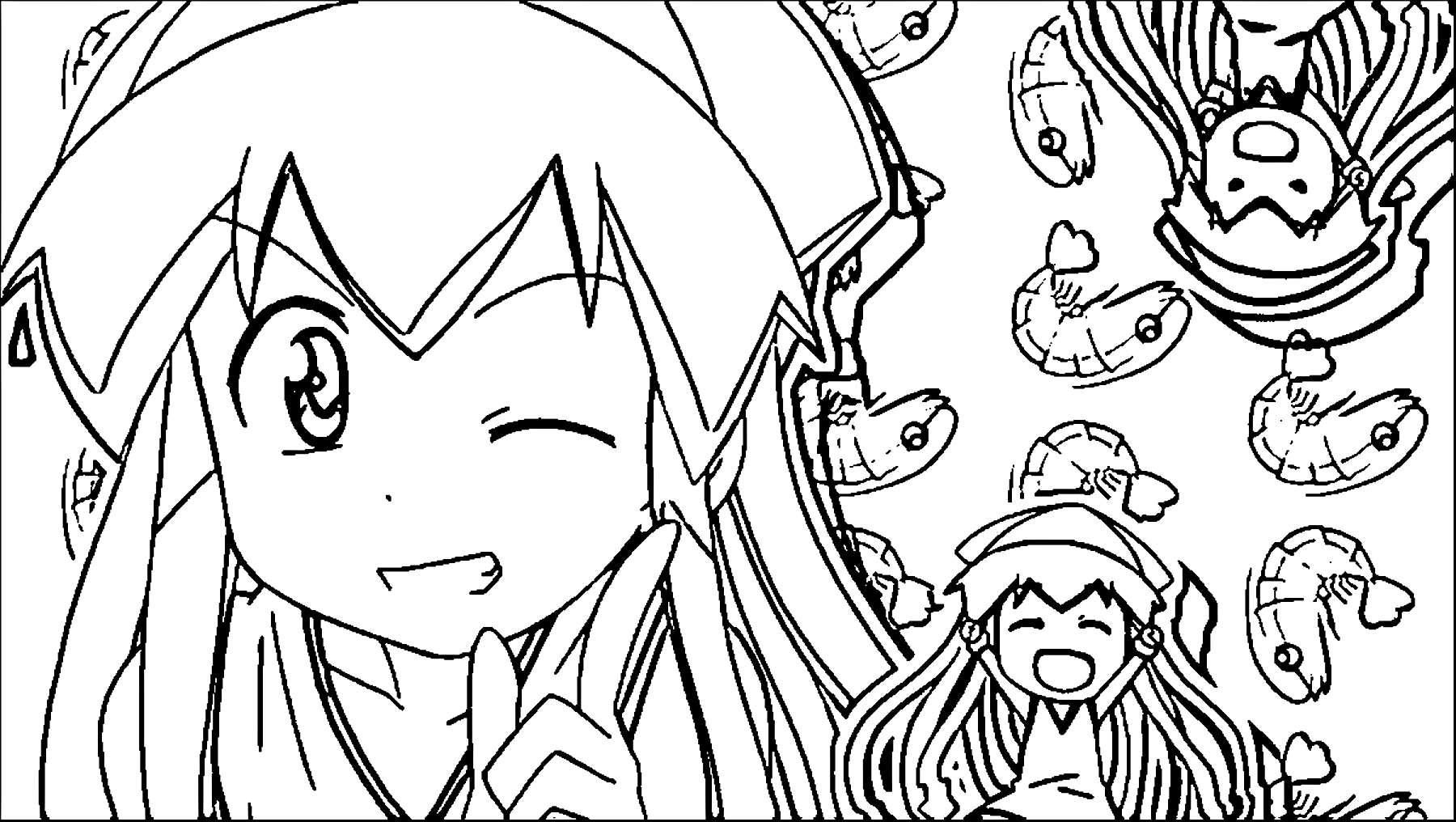 Squid Girl Coloring Page 234