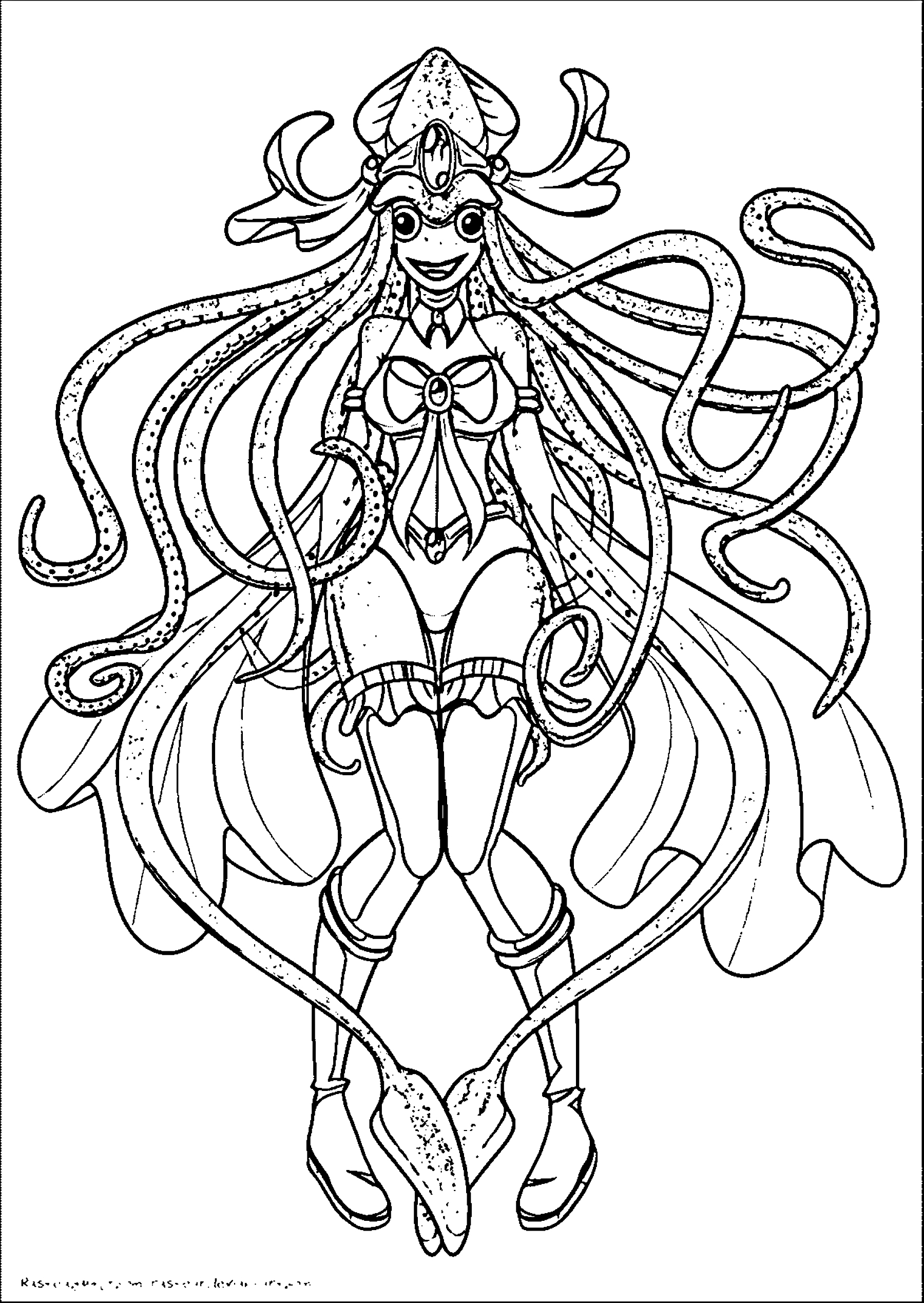 Squid Girl Coloring Page 257