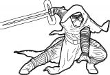 Star Wars The Force Awakens Kyloren Character Coloring Pages
